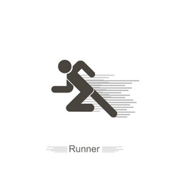 icon runner on a white background with lines flat vector image