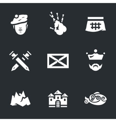 Icons Set of Scotland vector image