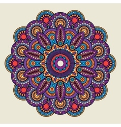 Indian doodle boho hippie mandala vector