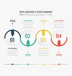 Info-graphic four steps banner vector