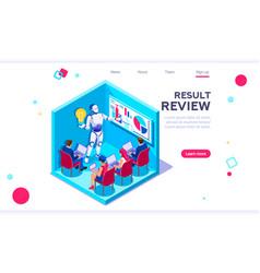interactive partnership idea vector image