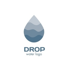 Isolated abstract blue color waterdrop logo vector