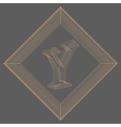 letter Y Fonts of Mesh vector image