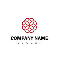 line flower logo vector image