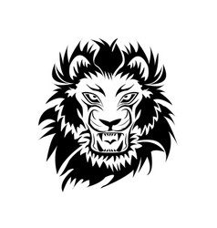 lion logo in black and white vector image