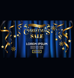 luxury christmas sale banner design for poster vector image