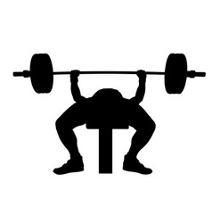 Male athlete powerlifter bench press vector