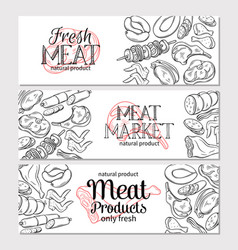 Meat products vector