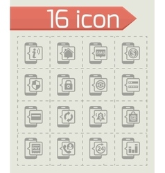 Mobile banking icon set vector