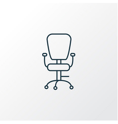 office chair icon line symbol premium quality vector image