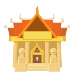 Old temple icon cartoon style vector
