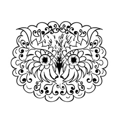 Ornamental Owl Head vector image