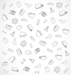 Pattern from school elements on white background vector