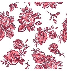 pattern pink rose vector image