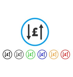 Pound swap rounded icon vector