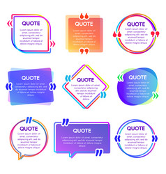 quote box frame mention text frames remark vector image