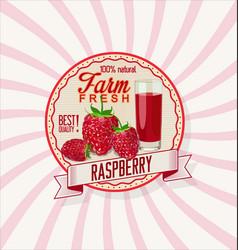 Raspberry retro vintage background vector