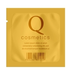 Realistic Gold template Packaging vector image