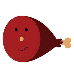 Red juicy chunk meat or color vector