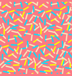 Seamless pattern of pink donut glaze with many vector