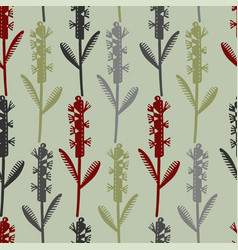 seamless pattern with decorative flowers in vector image