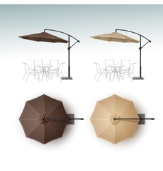 Set of Beach Cafe Bar Pub Umbrella Parasol vector