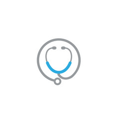 Stethoscope silhouette with health symbol icon vector