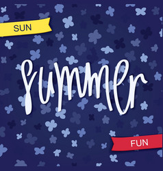 Summer sun and fun vector
