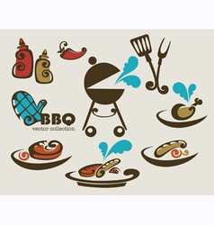 traditional american barbeque vector image