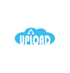 upload cloud with arrow logo data storage vector image