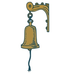 Vintage Ship Bell vector image