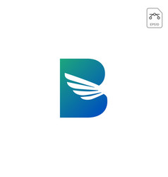 wings logo initial b abstract design icon isolated vector image