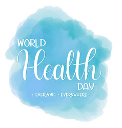 World health day text vector