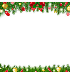 xmas firtree frame vector image