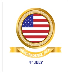 Banner gold American Independence Day vector image vector image