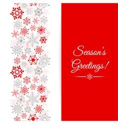 Christmas greetings card Border Christmas seamless vector image