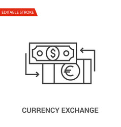 currency exchange icon vector image vector image