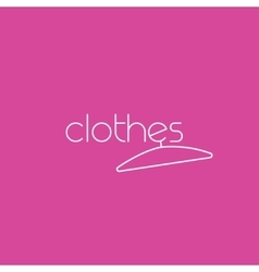 Fashion logo clothing concept with clothes vector image