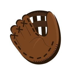 baseball glove icon yellow background vector image