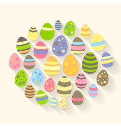 Easter eggs icons vector