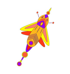 fantastic bright multicolored beautiful butterfly vector image vector image