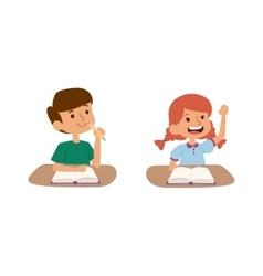 School kids learning vector image