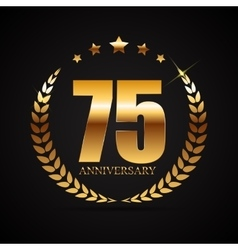 Template logo 75 years anniversary vector