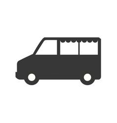 van vehicle transport vector image