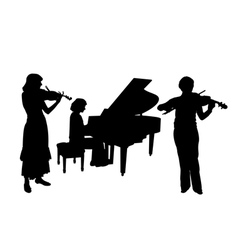 Concerto for two violins and piano vector image vector image