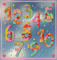 Holiday numbers design vector image vector image