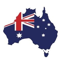 map australian flag background vector image