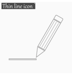 Pen icon Style thin line vector image vector image