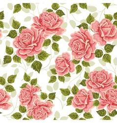 Pink vintage rose pattern Seamless vector image