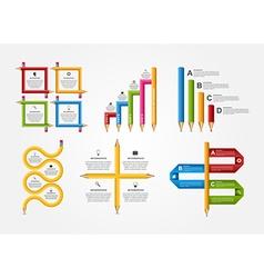 Set education pencil option Infographics design vector image vector image